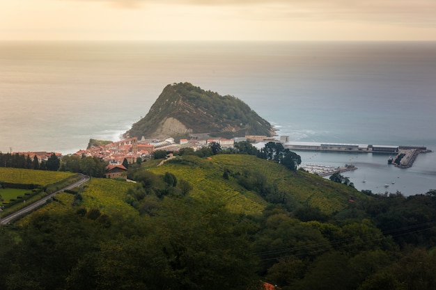 Getaria, fishermen town in the basque country's coast.