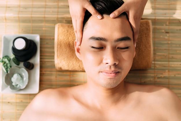 Getting facial massage