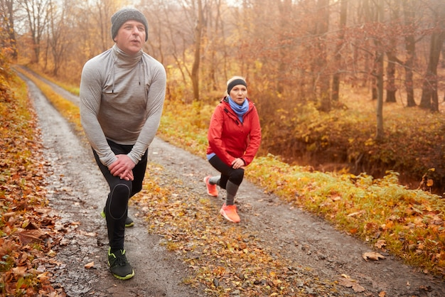 ジョギング中に新鮮な空気を得る