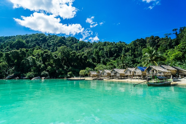 Getting to travel and hill tribe village with beautiful sea views thailand.