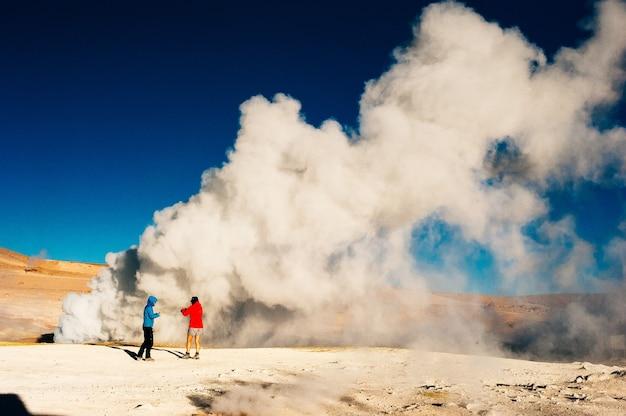 Geyser sol de manana in eduardo avaroa national reserve  altiplano