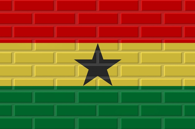 Ghana brick flag illustration