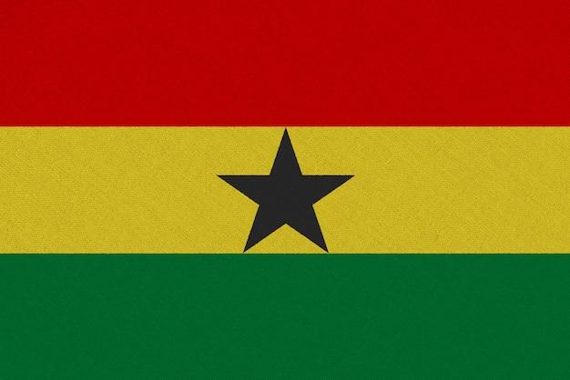Ghana fabric flag