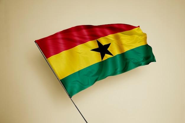 Ghana flag on the background