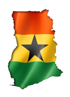 Ghanaian flag map flag map