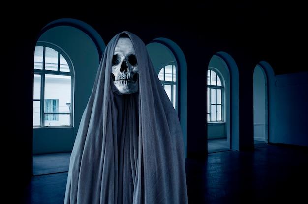 Ghost skull in church