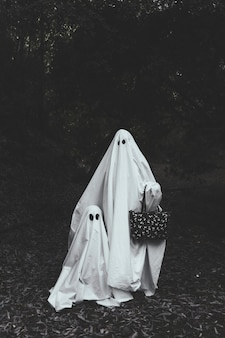 Ghost with child in woods