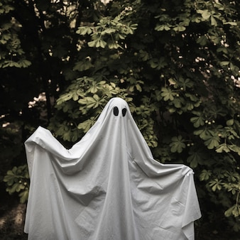 Ghost with rising hands