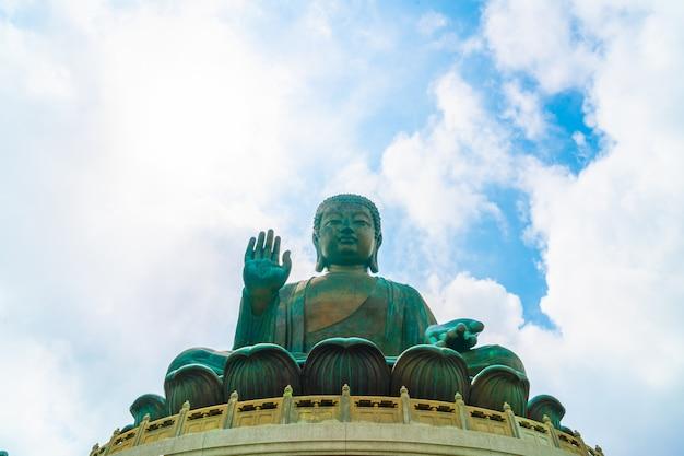 Гигантская статуя будды в нгонг пинг, гонконг