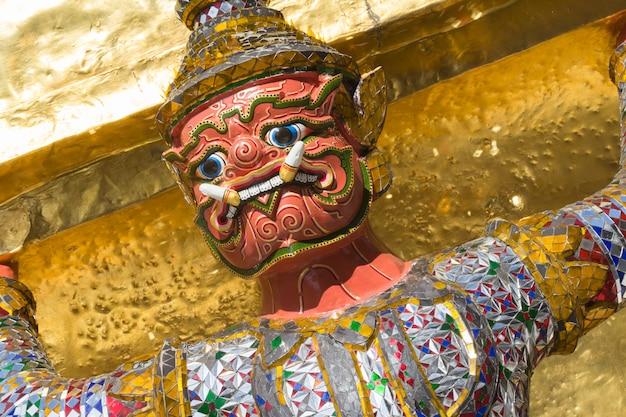 Giant at the emerald buddha temple, bangkok, thailand