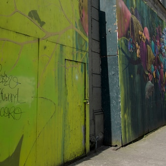 Гигантские настенные росписи, сиэтл, штат вашингтон, сша
