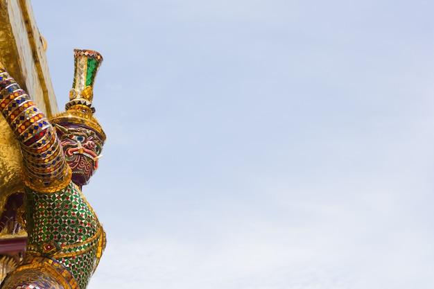 Giant at wat pra kaew, bangkok thailand
