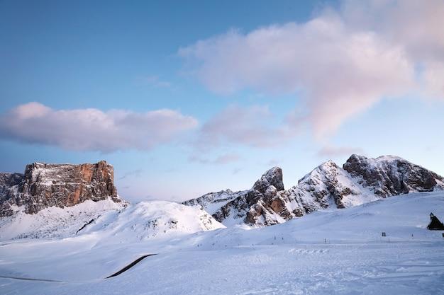 Giau pass in winter season
