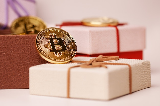 Gift bitcoin in the package