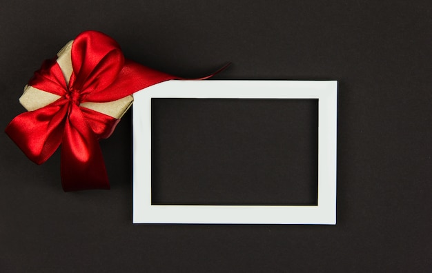 Gift for black friday sale box with a red ribbon