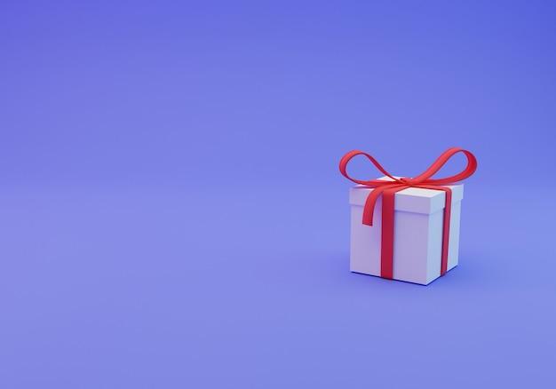 Gift box 3d rendering