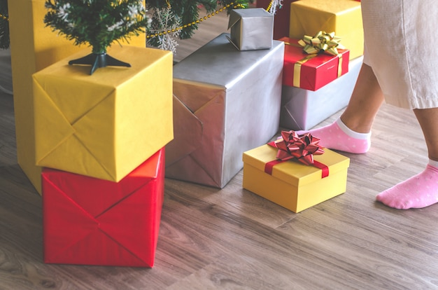 Gift box and christmas festival