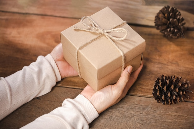 Gift box for christmas and newyear holiday background