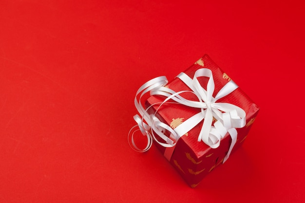 Gift box on color
