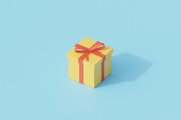 선물 상자 하나의 고립 된 개체입니다. 3d 렌더링