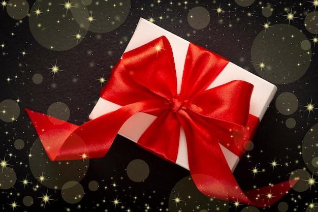 선물 상자 발렌타인 데이 또는 크리스마스, 근접 촬영