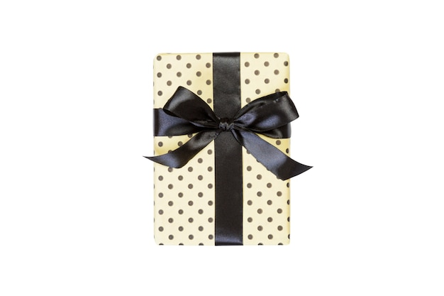 흰색 바탕에 검은 나비 선물 상자