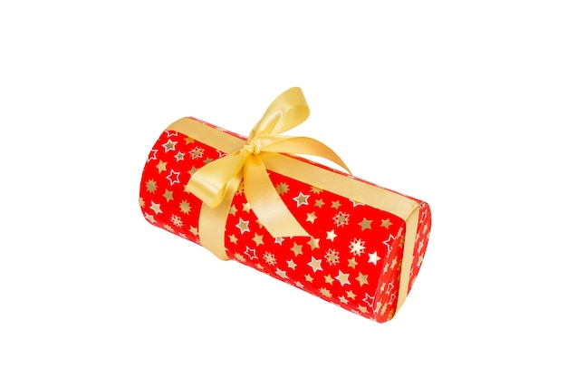 흰색 바탕에 노란 나비와 선물 상자