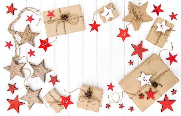 Подарочные коробки адвент-календарь новогоднее украшение