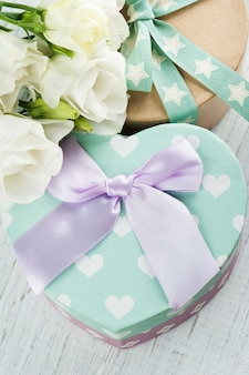 Gift boxes and bow