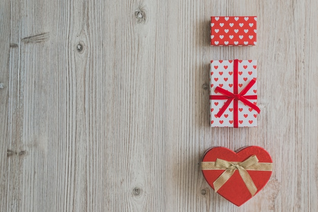 Gift boxes and a heart-shaped box