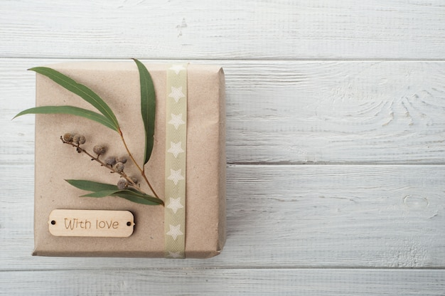Gift boxes with tag love