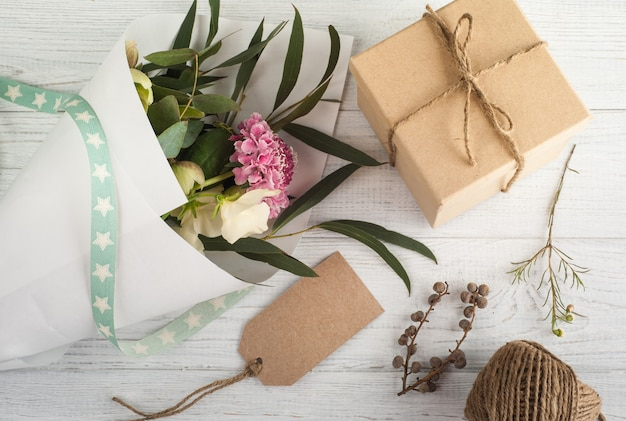 Gift boxes with tag