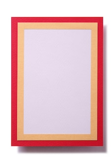 Gift card red gold border template vertical