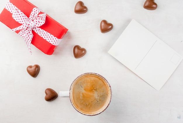 バレンタインデーのギフト、コーヒー、スイーツ