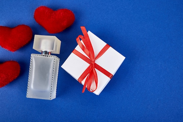 Gift concept for a woman on a blue trend.