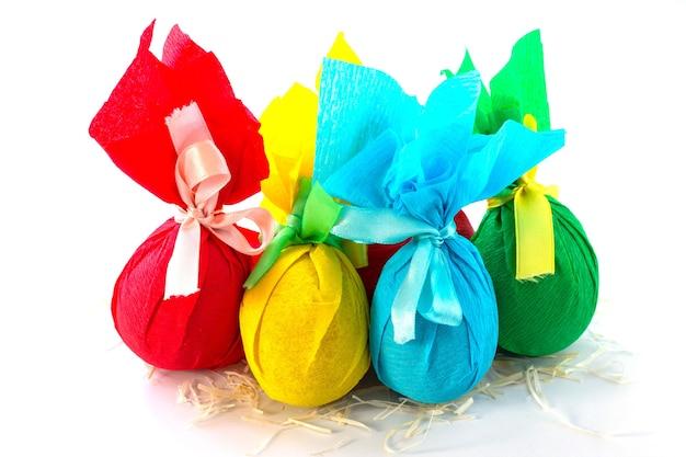 선물 장식 부활절 달걀 흰색 절연