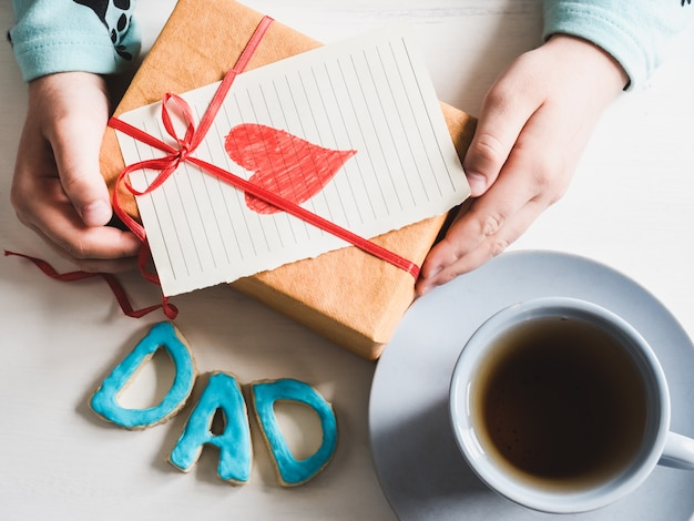 Gift in the hands of a youngest daughter