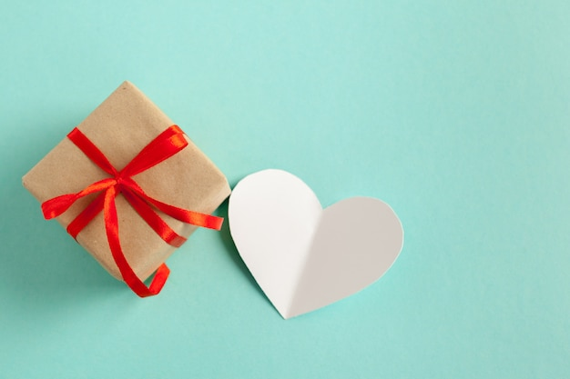 Gift and heart shaped card