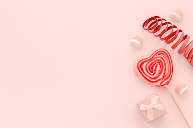 Gift and lollipop