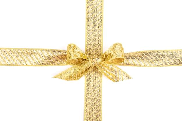 Подарочная лента с бантом изолированные