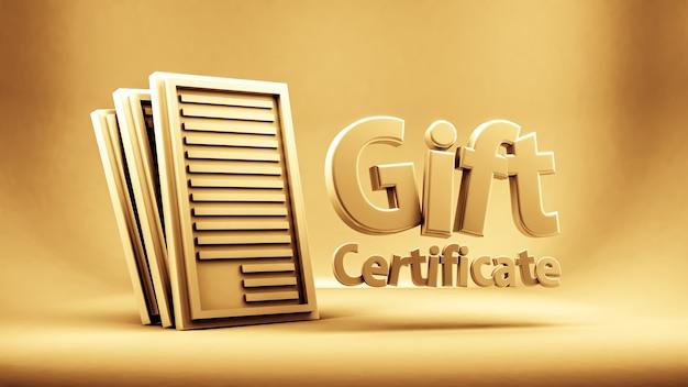 Подарочный сертификат, сертификат, новый год, рождество, праздник 3d рендеринга
