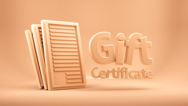 Gift voucher, certificate, new year, christmas, holiday.