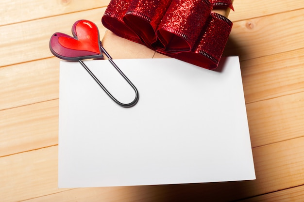 Gift on wooden background