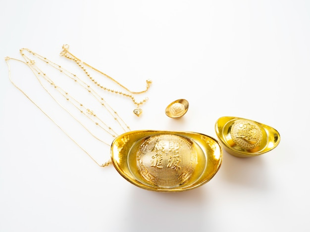 Gifts in chinese new year, gold