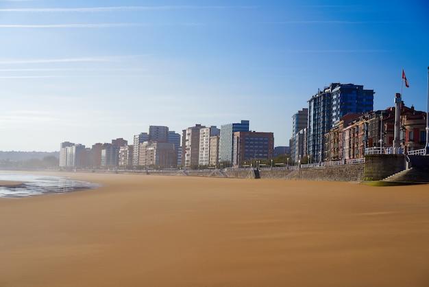 Gijon playa san lorenzo beach asturias spain