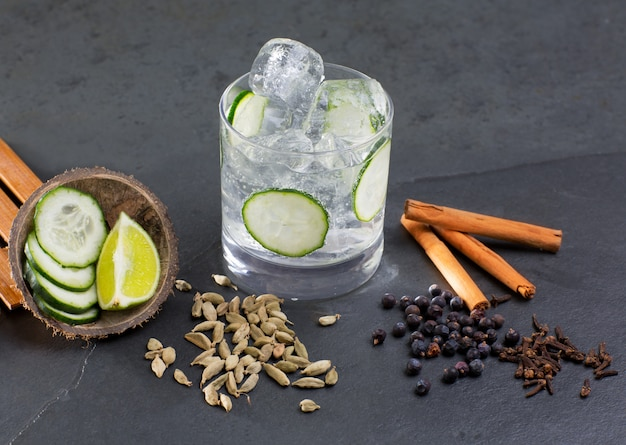 Gin tonic cocktail