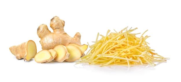 Ginger herb on white