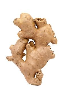 Ginger herbs on white background