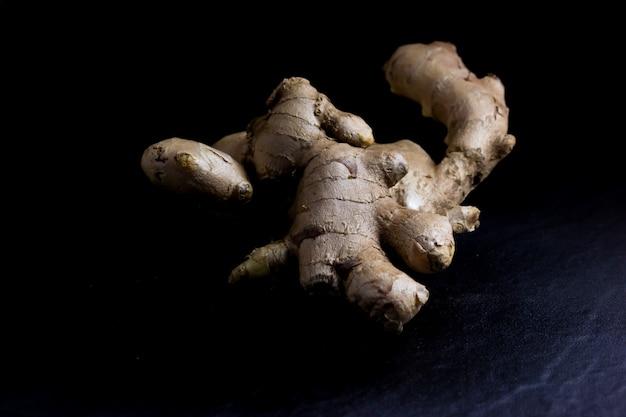 Ginger isolated on black background