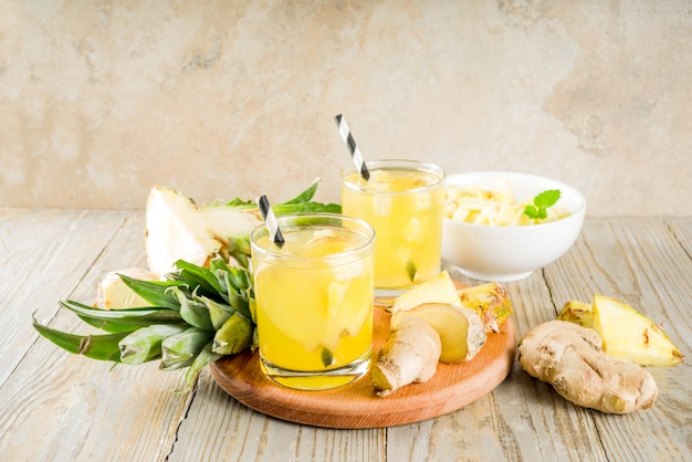 Ginger and pineapple tea